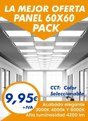 Descubre lo ultimo en paneles led, fit panel 60x60 de 40w